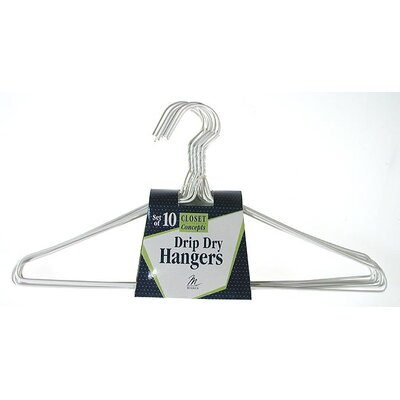 Merrick Vinyl Coated Drip Dry Hanger (Set of 10)