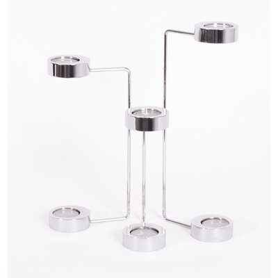 Boom Design Polished Steel U Candelabra