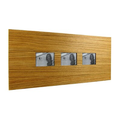 Boom Design Three Slot Wood Picture Frame