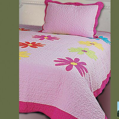 kathy ireland Home by Hallmart Daisy Crazy 3 Piece Quilt Set