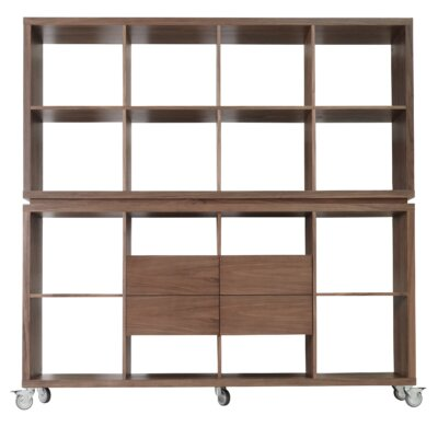"sohoConcept Malta 34.5"" Bookcase with Drawers"