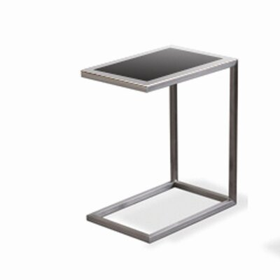 Alfa Black Glass End Table (Set of 2)