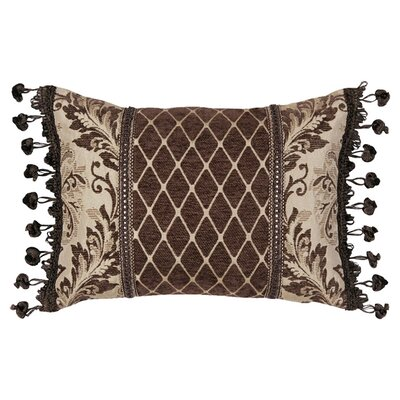 Broderick Synthetic Pillow with Braid and Fringe