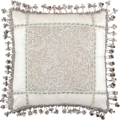 Jennifer Taylor Swanson Pillow with Tassel Trim and Braid