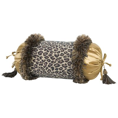 Jennifer Taylor Espresso Pillow with Brush Fringe and Tassels