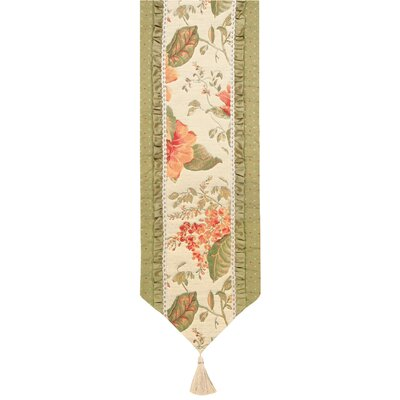 Jennifer Taylor Brianza Table Runner with Braid and Ribbon