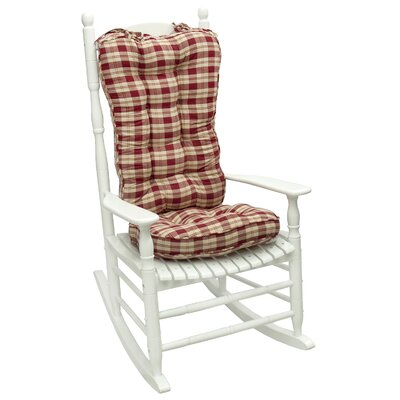 Greendale Home Fashions Applegate Plaid Standard Rocking Chair Cushion