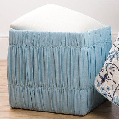 Sandy Wilson Cashmir Pleated Storage Cube Ottoman