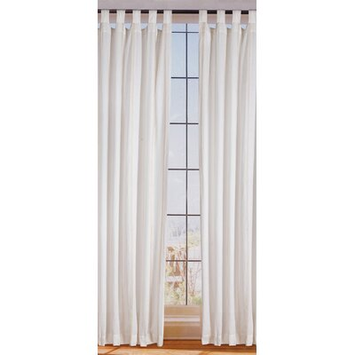 Sandy Wilson Organic Stripes Linen Tab Top Curtain Single Panel