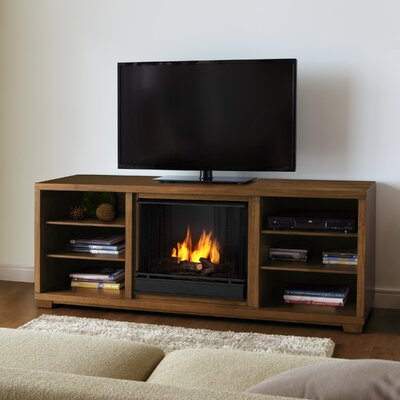 "Real Flame Marco 69"" TV Stand with Gel Fuel Fireplace"