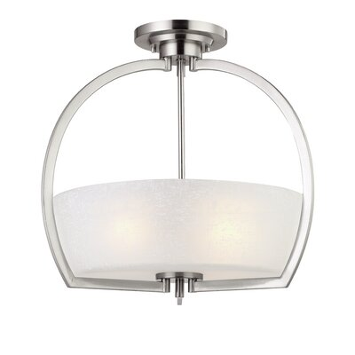 Burke 3 Light Semi-flush Mount