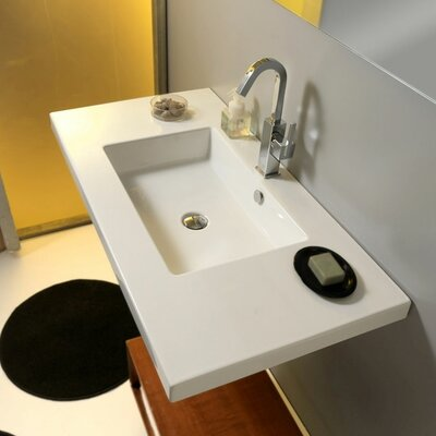 Mars Ceramic Bathroom Sink with Overflow - Art MAR03011