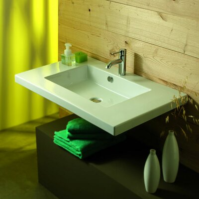 Ceramica Tecla by Nameeks Mars Ceramic Bathroom Sink with Overflow