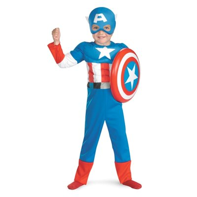 Disguise Costumes Captain America Toddler Muscle Costume