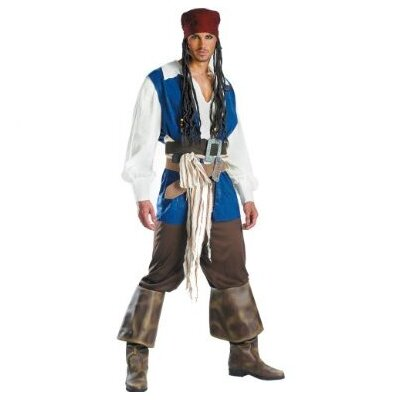 Disguise Costumes Captain Jack Sparrow Classic Adult Custome
