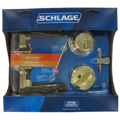 Schlage Accent Keyed Lever Front Entry Set