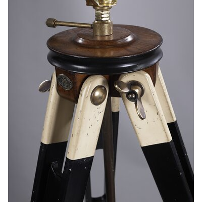 Authentic Models Surveyor's Tripod Lamp in Black and Ivory