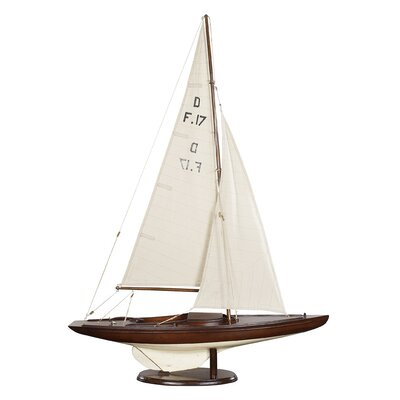 Authentic Models Dragon Olympic Sail Racer in Ivory and Distressed Dark Honey