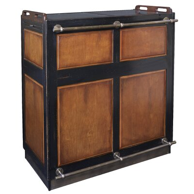 Authentic Models Casablanca Bar in Black and Distressed Honey