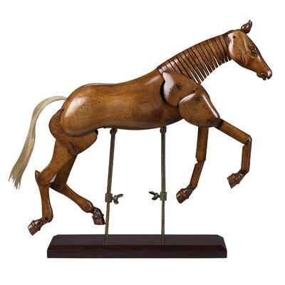 Authentic Models Large Artist Horse in Distressed Dark Honey