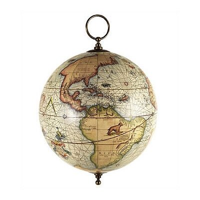 Authentic Models Mercator Terrestrial Hanging Globe
