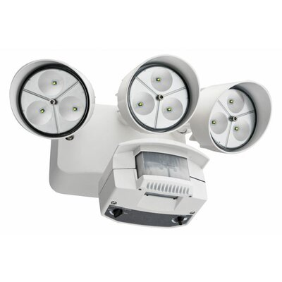 Lithonia Lighting 3 Head LED Floodlight with Light Motion Sensor