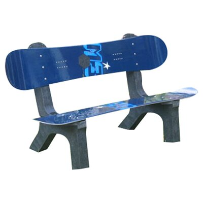 <strong>Ski Chair</strong> Snow Board Recycled Plastic Garden Bench
