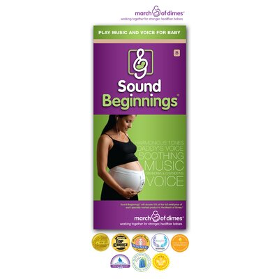 Sound Beginnings Medium Pre-Natal Sound Delivery Device in Black