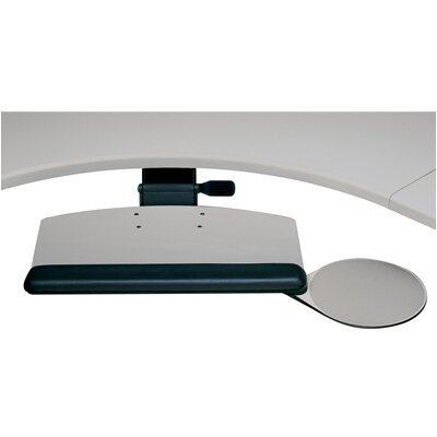 Humanscale Radiused Keyboard Tray and Mouse Platform with Single Adjustable Arm