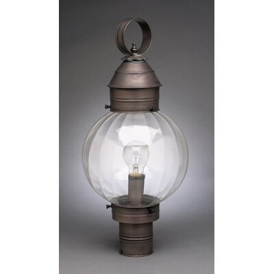 Northeast Lantern Onion 1 Light Round Post Lantern