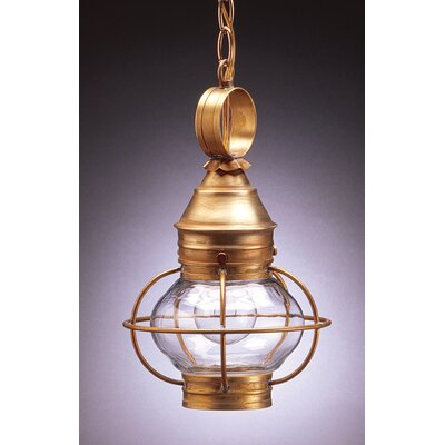 Northeast Lantern Onion 13' Medium Base Socket Caged Pendant