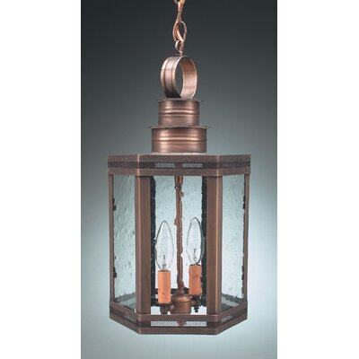 Northeast Lantern Hardwick Candelabra Sockets Hexagon 2 Light Hanging Lantern with Galley