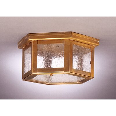 "Northeast Lantern Williams 5"" Sockets Flush Mount"