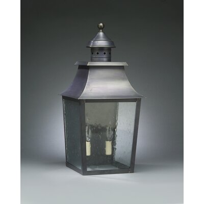 Northeast Lantern Sharon Medium Base Socket with Chimney Pagoda Wall Lantern
