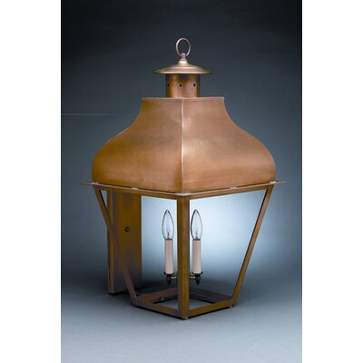 Northeast Lantern Stanfield Medium Base Socket with Chimney Curved Top Wall Lantern