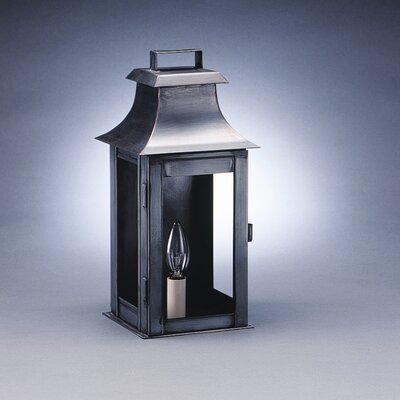 Northeast Lantern Concord 1 Candelabra Socket Pagoda Raised Top Wall Lantern