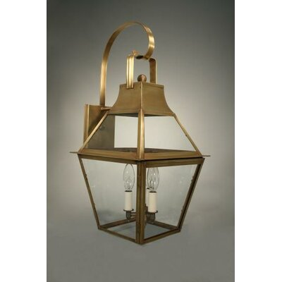 Northeast Lantern Uxbridge 3 Candelabra Sockets Bracket Wall Lantern