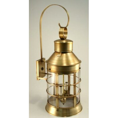 Northeast Lantern Nautical Medium Base Socket Top Scroll Wall Lantern