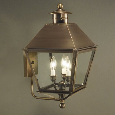 Northeast Lantern Jamestown 3 Light Wall Sconce