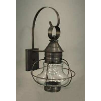 Northeast Lantern Onion Medium Base Socket Small Caged Wall Lantern