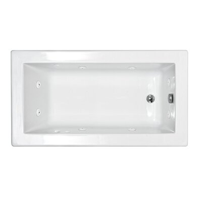 Spa Escapes Guadeloupe 36 x 60 x 23&quot; Rectangular Whirlpool Jetted Bathtub