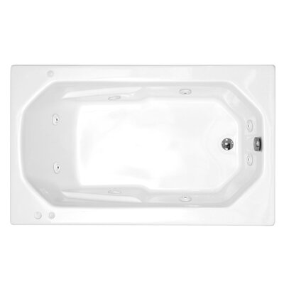 "Spa Escapes Montserrat 60"" x 23"" Rectangular Whirlpool Tub"