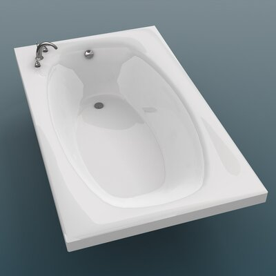 "Spa Escapes St. Kitts 36 x 72 x 23"" Rectangular Soaking Bathtub"