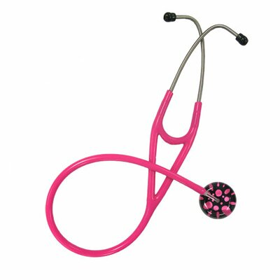 UltraScopes Adult Stethoscope Black Background with Hot Pink Polka Dots