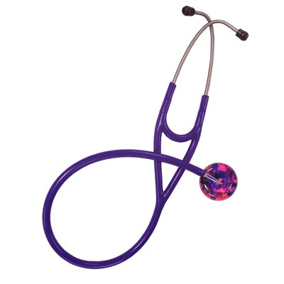 Adult Stethoscope with Darks on Hot Pink (E5) Tie Dye Design