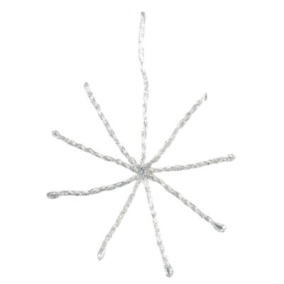 Barreveld International Beaded Star Snowflake Ornament