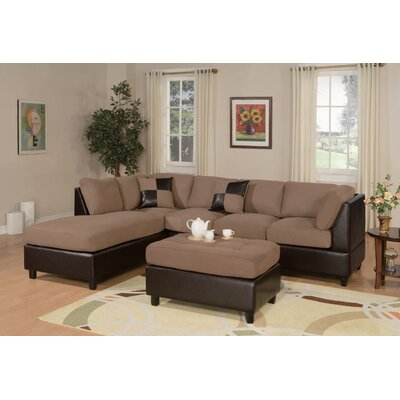 Poundex Bobkona Modular Sectional With Ottoman Reviews