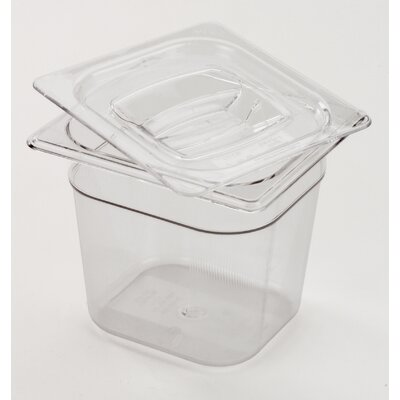 "Rubbermaid Commercial Products 6 Space Cold Food Pan (4"" depth)"