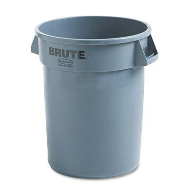 Rubbermaid Commercial Products Brute Refuse Container, Round, Plastic, 32 Gal