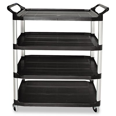 Rubbermaid Commercial Products Open Sided Utility Cart, 4-Shelf